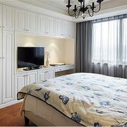 欧式简约风格小房间电视背景墙装饰