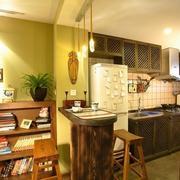 美式原木吧台装修