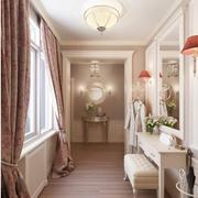 欧式简约风格公寓客厅过道效果图