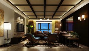 东南亚客厅吊顶装修效果图大全