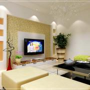 欧式风格硅藻泥电视背景墙装饰