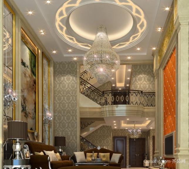 欧式中空别墅客厅装修效果图
