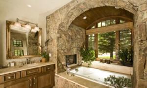 三室两厅两卫卫生间仿古砖装修效果图