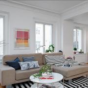北欧风格清新简约客厅吊顶装饰