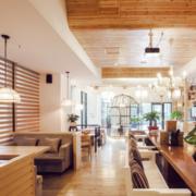 日式简约原木咖啡厅装饰