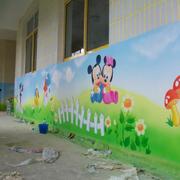 潮流幼儿园墙面壁画设计