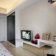 卧室现代简约风格电视背景墙装饰