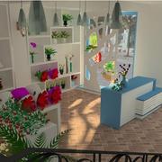 精美的花店背景墙图