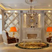 欧式风格客厅墙衣装饰