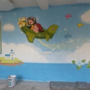 时尚幼儿园背景墙装修