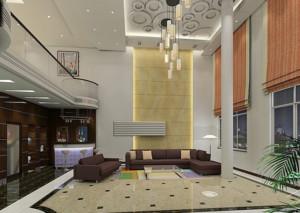 现代简约风格洋房客厅装饰
