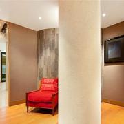 公寓简约风格电视背景墙装饰