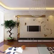 现代简约风格客厅硅藻泥电视背景墙
