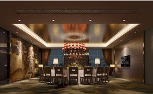 中式简约餐厅吊顶装饰