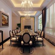 欧式餐厅飘窗装饰效果图