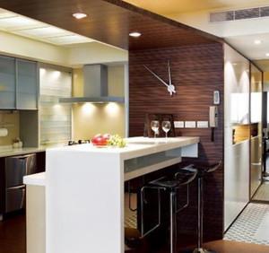 时尚现代的家庭吧台设计装修效果图