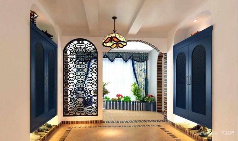 两室一厅地中海衣帽间装修效果图