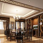 中式奢华风格酒柜装饰