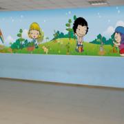 精装幼儿园背景墙装修