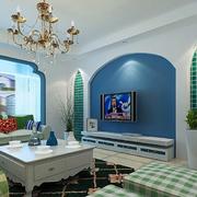 地中海风格简约电视背景墙设计