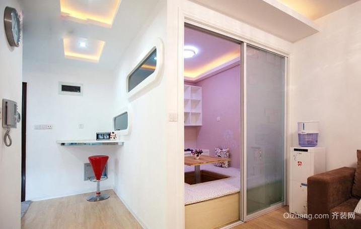 2015现代欧式小房间背景墙装修效果图