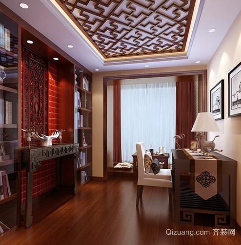 古色古香的中式书房设计效果图欣赏