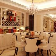 欧式风格简约餐厅酒柜装饰