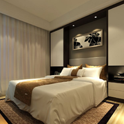 后现代风格卧室软包背景墙装饰