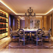 欧式奢华餐厅酒柜装饰