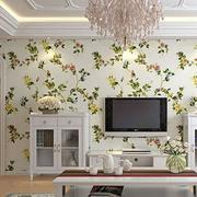 清新简约风格客厅背景墙装饰