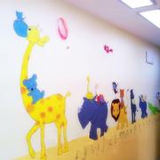 简约幼儿园墙面壁画设计