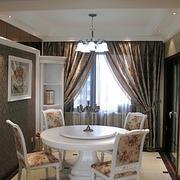 欧式田园风格餐厅桌椅装饰
