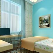 儿童房简约风格照片墙装饰
