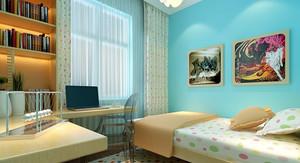 100平米现代简约儿童房装修效果图鉴赏