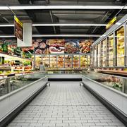 商场简约风格整体式货架装饰