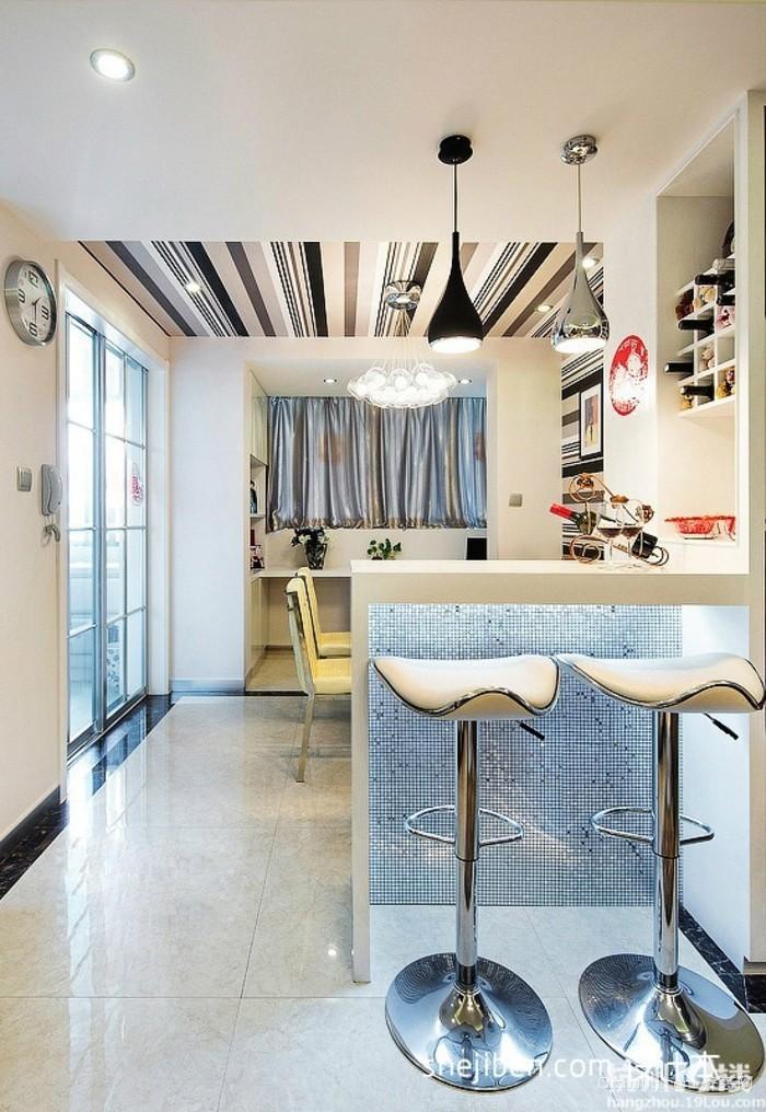 120平米大户型欧式别墅客厅吧台装修效果图