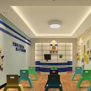 大气幼儿园背景墙设计