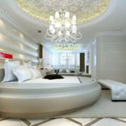 欧式奢华风格卧室圆形吊顶装饰