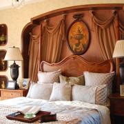 美式简约风格卧室床头装饰