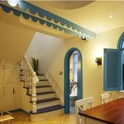 地中海风格客厅拱形门装饰