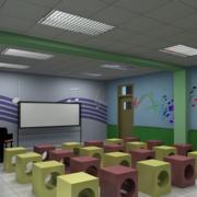 简约幼儿园背景墙装修