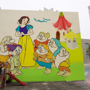 唯美幼儿园墙面壁画设计