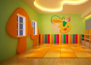 精致幼儿园背景墙装修