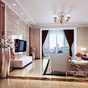 现代客厅飘窗造型图