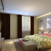 现代简约风格卧室简易背景墙装饰
