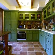 美式绿色系橱柜装饰