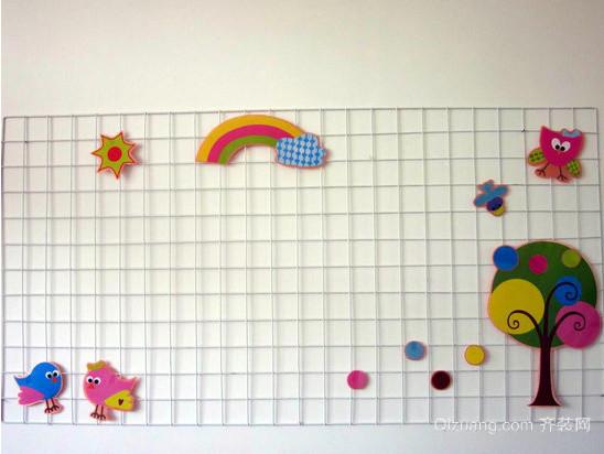 欢快清新的幼儿园教室墙面装修效果图