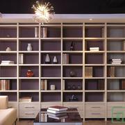 别墅整体式书柜装饰