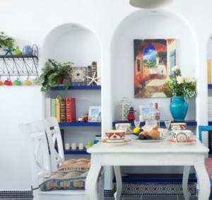 50平米现代地中海风格餐厅装修效果图
