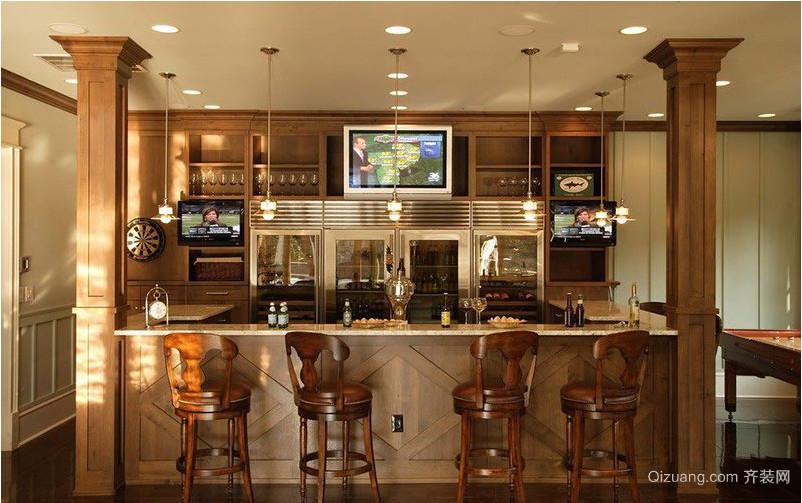 现代家庭吧台装修效果图